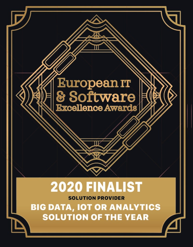 B EYE is a finalist for the European IT Software Excellence Awards 2020 ITEAwards 2020 solution provider big data iot solution of the year 1